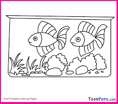 aquarium coloring page coloring home