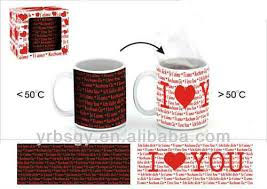 wedding gifts for guests color changing mug gift china