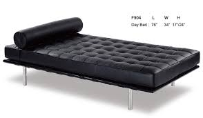 amazing f904 black full italian leather daybed at home inside day