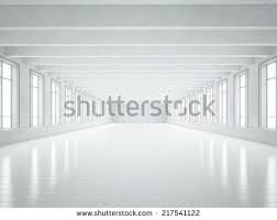 clean white empty warehouse windows 3d stock illustration