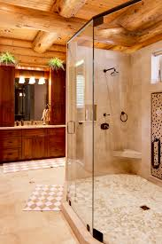 supersized walk in showers for new log homes or renovations walk in showers large walk in shower in stunning bathroom log homes