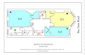 33 bay street floor plans 208 bay state road housing boston university
