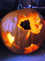 first time carving a pumpkin halloween maple leaf pumpkin