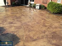 Cost Of Stamped Concrete Patio by Acrylic Spray Finishes Decorative Concrete Inc