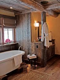 Rustic Bathroom Ideas Pictures Rustic Bathroom Shower Curtains Block Pattern Ceramic Tile