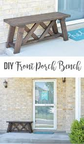 diy front porch bench the happy scraps
