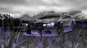purple mitsubishi lancer mitsubishi lancer evolution x tuning jdm crystal nature car 2014