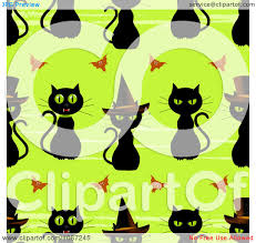 free repeatable halloween background clipart seamless halloween black witch cat pattern royalty free