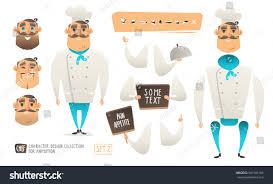 animation cuisine style chef character animation เวกเตอร สต อก