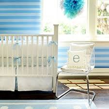 amazon com new arrivals white pique crib bumper blue trim