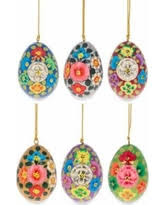 easter egg ornaments check out these bargains on 3 set of 3 flowers ukrainian easter
