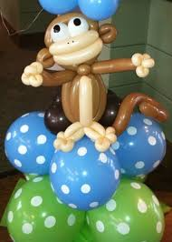 monkey decorations for baby shower baby shower balloon decor