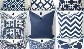 Navy Blue Decorative Pillows Royal Blue Ruffled Throw Pillows Ruffle Pillows 12x20 Blue