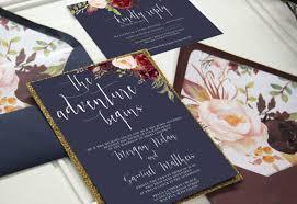 navy wedding invitations navy and marsala wedding invitation suite