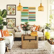 orange glass pendant lamp with wicker furniture for latest colour
