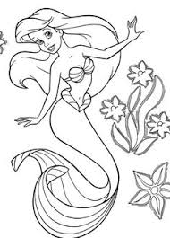 disney mermaid colouring pages tagged