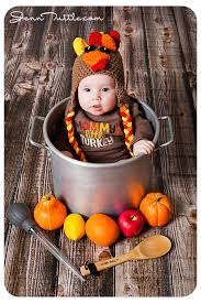 baby s thanksgiving photo shoot turkey pot dinner