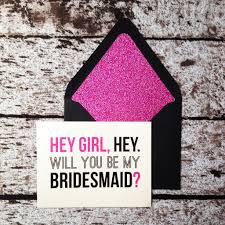 bridal party cards modern luxe black u0026 pink glitter pink