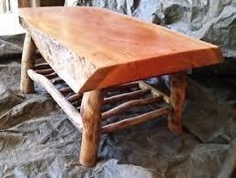 Slab Coffee Table Bush Furniturre Rustic Timber Slab Coffee Table Ebay