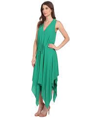 Kelly Green Maxi Dress Bcbgmaxazria Klara Double Strap Wrap Top Hankerchief In Green Lyst