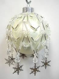 pattern only beaded ornament cover charmed snow flake