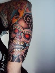 23 best sugar skull sleeve tattoos images on skull