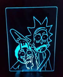 Neon Desk Lamp Rick And Morty Color Changing Led Desk Table Night Light Lamp