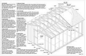 12 x 16 feet gable storage shed plans buy it now get it fast ebay