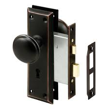 interior door knobs home depot prime line rubbed bronze mortise lock set with keyed knob e