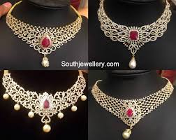 beautiful necklace designs images Beautiful diamond necklaces jewellery designs jpg