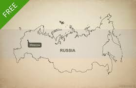 russia map free vector map of russia outline one stop map