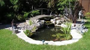 koi pond water garden spring clean out new jersey images with
