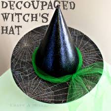 craft a spell martha stewart halloween decoupaged witch u0027s hat