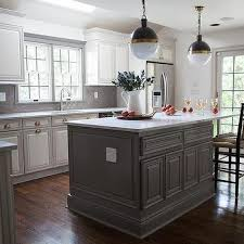 Transitional Kitchen Designs Photo Gallery White Raised Panel Kitchen Cabinets With Gray Geometric Tile