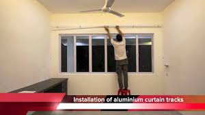 Installation Of Curtain Rods Curtain Installation By J U0026k Furnishing Youtube