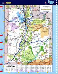 Map Of Northern Utah by Road Map Of Utah New York Map
