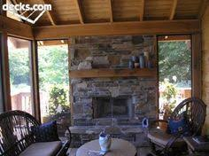 Screen Porch Fireplace by Corner Stone Fireplace This Large Corner Outdoor Fireplace Is