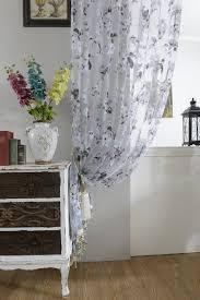 Landhaus K He Amazon De Floral Muster Voile Tüll Vorhang Vorhänge Für Jalousien