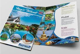island brochure template 8 free cruise brochure templates bates on design