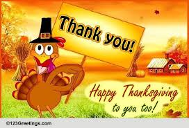 happy thanksgiving to you free thank you ecards greeting