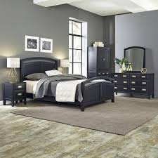 home styles barnside metro 2 piece driftwood king bedroom set 5053