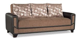 Modern Brown Sofa Mondo Modern Brown Convertible Sofa Bed By Casamode