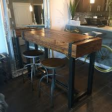 bar top table and chairs bodhi pub table etsy industrial and pipes