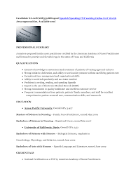 Resume Samples Nurse Practitioner by Resume In Spanish Resume For Your Job Application