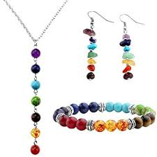 necklace stone beads images Top plaza 7 chakra lava rock stone beads yoga reiki jpg