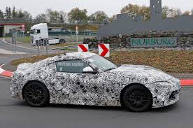 supra spied toyota supra sheds more camouflage reveals taillights