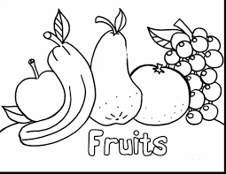 good fruit coloring pages printables with fruit coloring pages