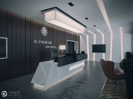 Interior Design Office by Interior Design And 3d Visuals Of Apartments Building Reception
