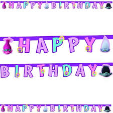 buy trolls happy birthday party letter banner from our all party