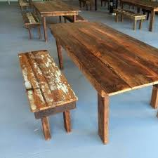 reclaimed wood benches up to 8 ft farm tables of the south